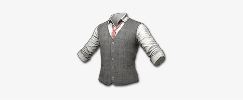 Pubg Tweed Vest Skin Icon - Жилет Серый - Free Transparent