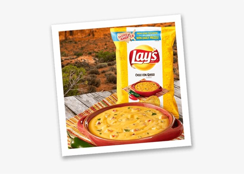 Chile Con Queso - Lay's Potato Chips, Wavy Mango Salsa - 7.75 Oz Bag, transparent png #2864650
