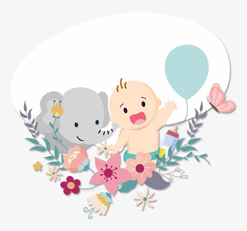Elephant - Boy Baby Shower Snapchat Filter, transparent png #2865985