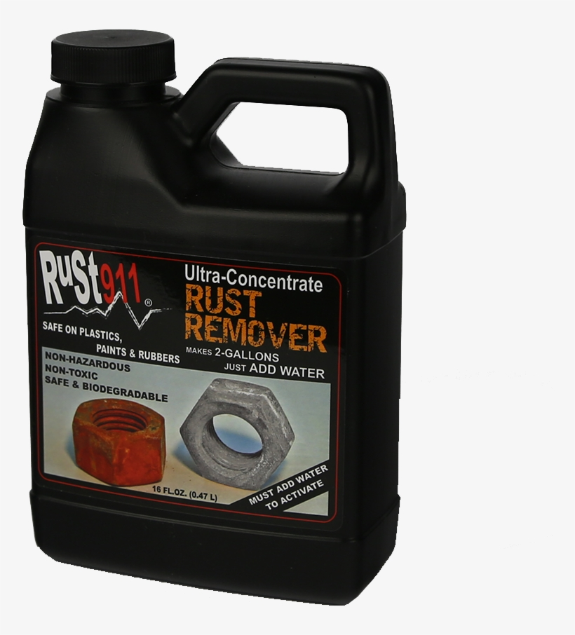 Best Review Rust Remover 16x Concentrate - Rust911: Rust Remover Concentrate 16 Oz Makes 2-gallons, transparent png #2869000