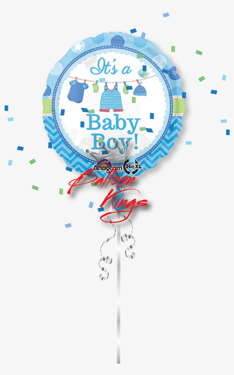 Its A Boy Onesie Clothesline - Baby Boy Shower, transparent png #2876268