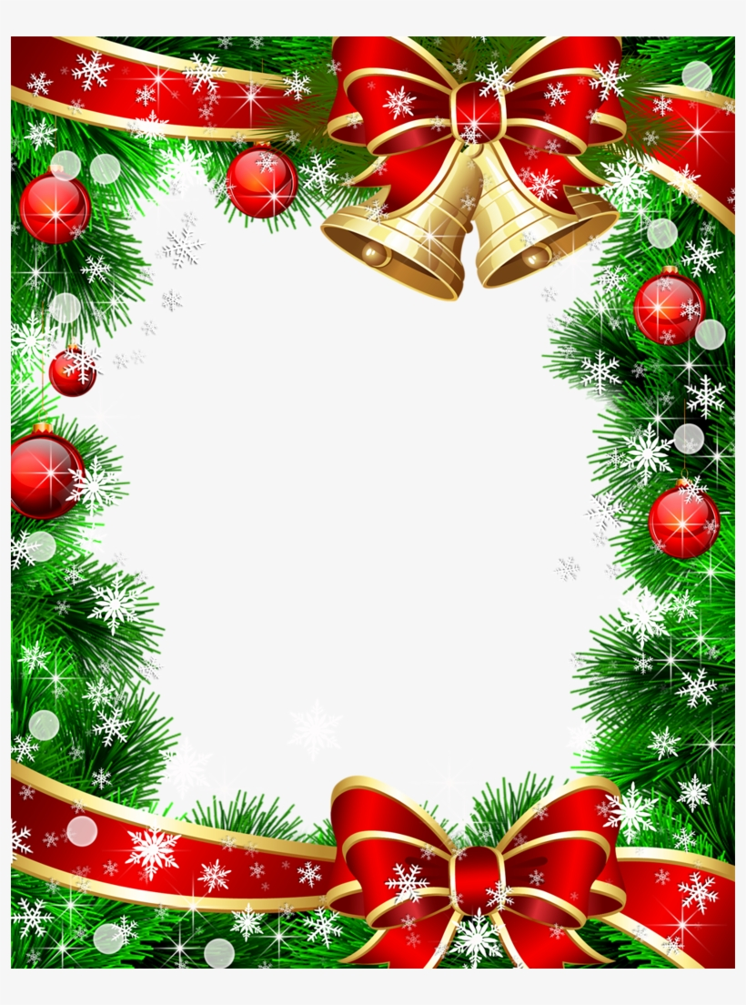 Christmas Card Background - Christmas Card Frame Hd, transparent png #2879028