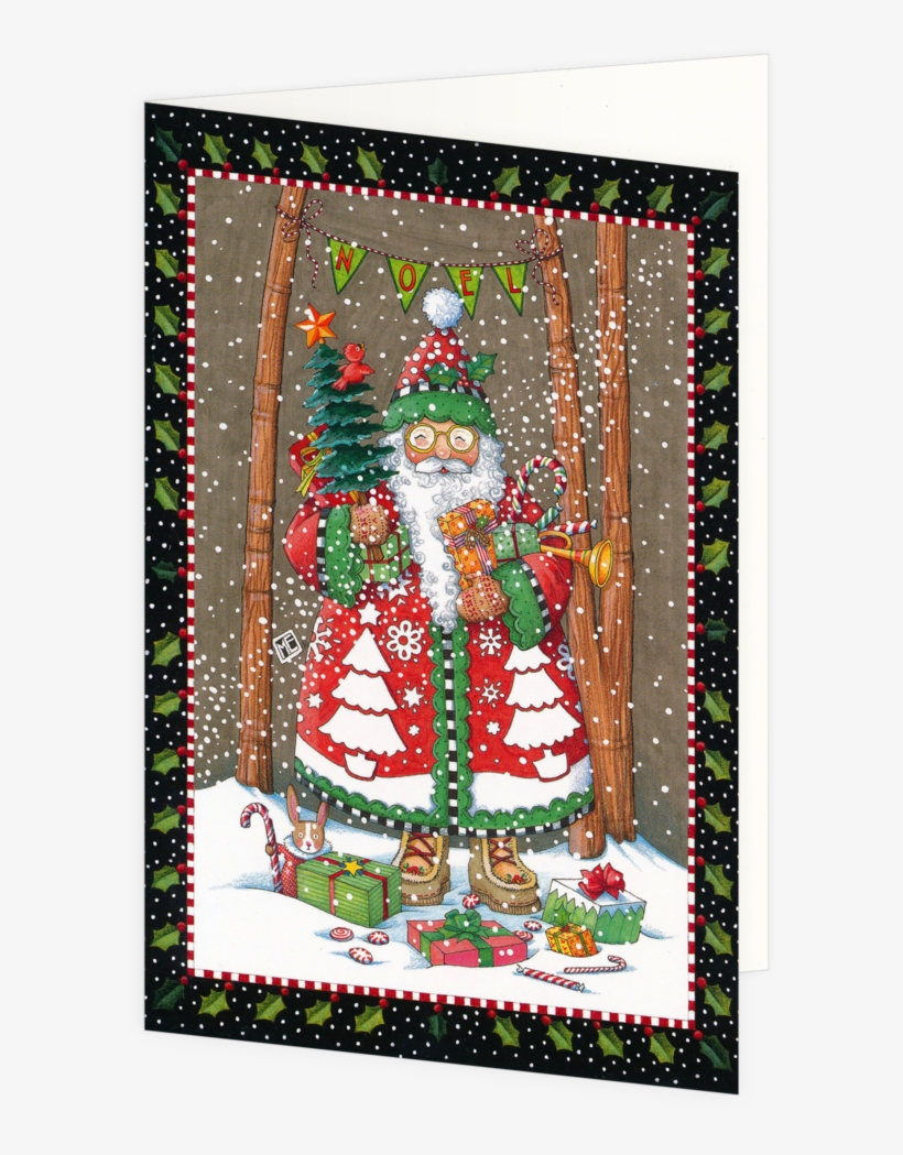 Jolly Santa Boxed Christmas Cards Jolly Santa Boxed - Christmas Cards, transparent png #2879176