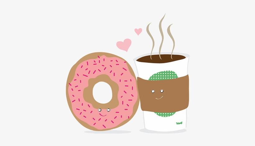 90a0054e8dd7 Coffee Stickers Donut Kawaii Cartoon Freetoedit Cafe - Donuts And Coffee  Cartoon