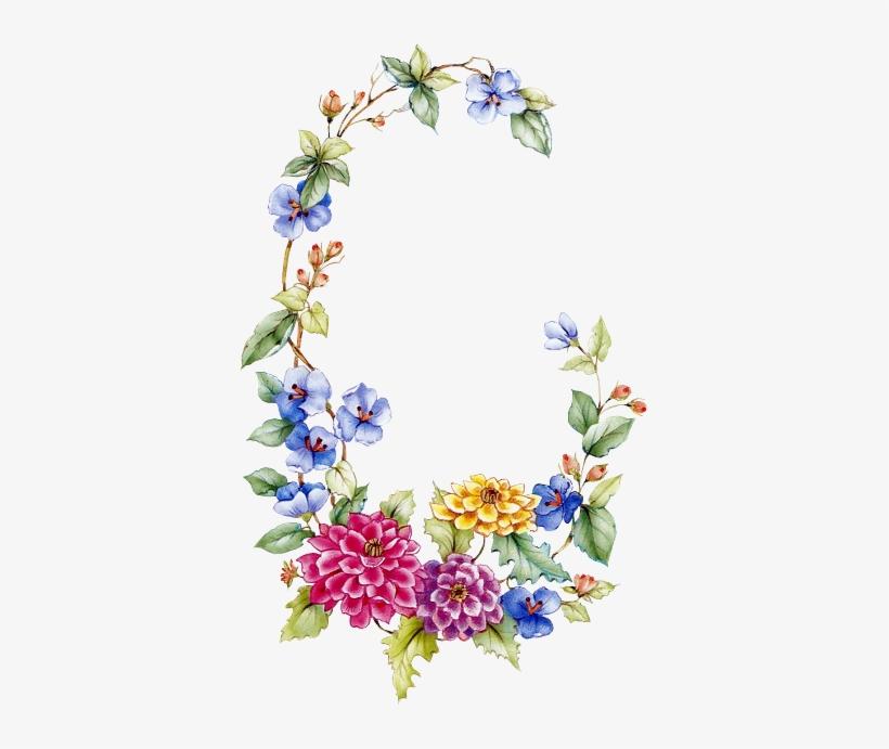 Floral Garland Borders And Frames, Vintage Flowers, - Oval Floral Frame Png, transparent png #2879414