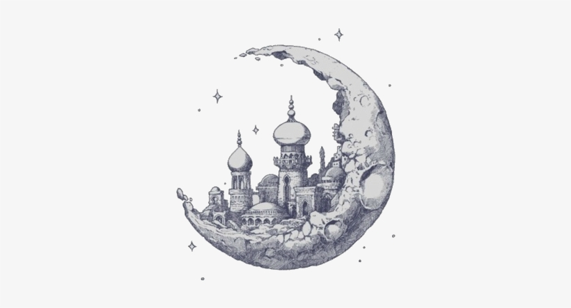Free Moon Drawings Tumblr Castle In Clouds Drawing Free