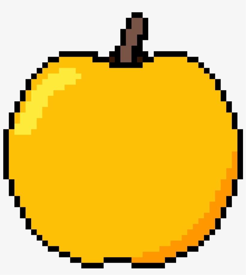 Golden Apple - Minecraft Pixel Art Emojis, transparent png #2880199