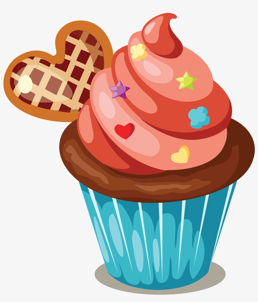 Cupcake Icing Birthday Cake Muffin Clip Art
