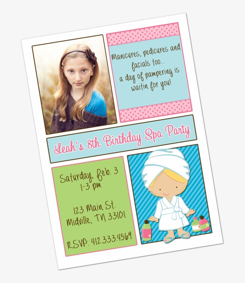 Spa Party Blonde Girl Digital Invitation Digital Invitations - Spa Para Niñas, transparent png #2881369
