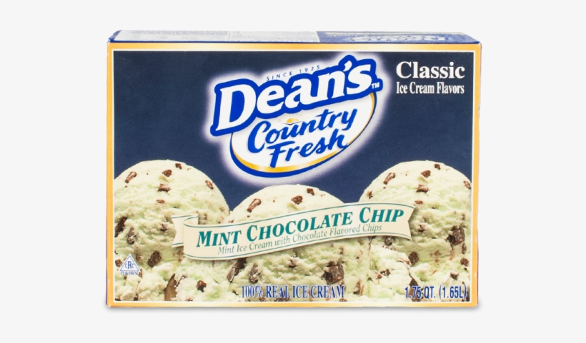 Dean's Country Fresh Classic Mint Chocolate Chip Ice - Deans Mint Chocolate Chip Ice Cream, transparent png #2881641