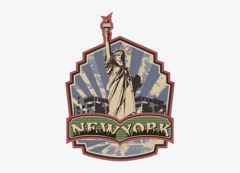 Retro New York Wall Sticker - New York City Throw Blanket, transparent png #2885057