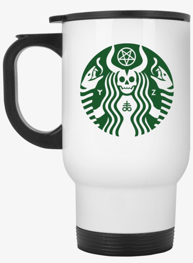Satanic Starbuck Coffee Mugs - Starbucks New Logo 2011, transparent png #2885538