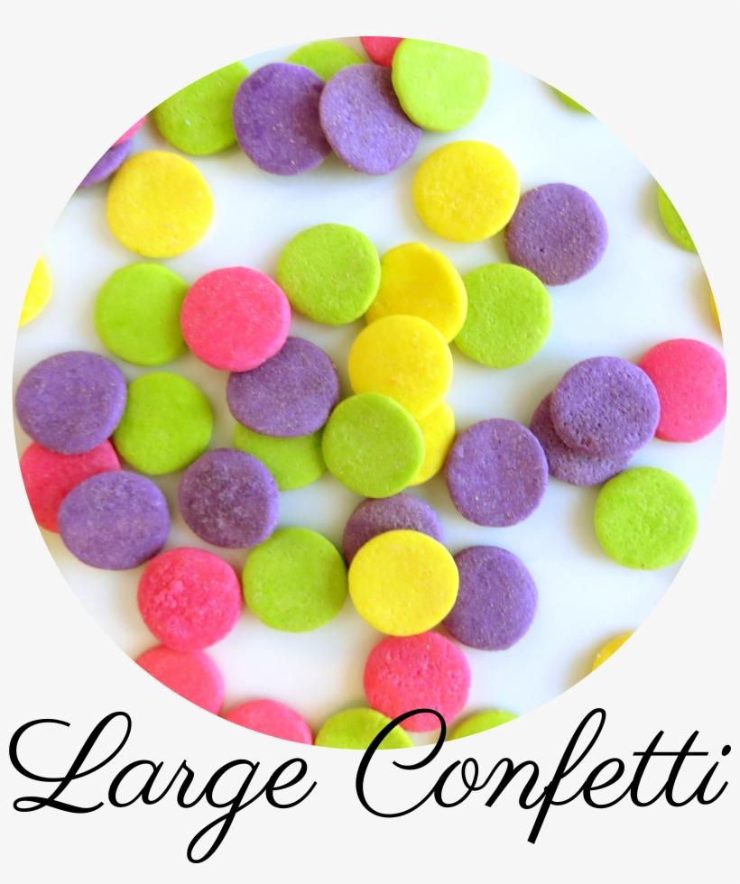 Large Confetti Sprinkles-01 - Flat Circle Sprinkles, transparent png #2885784