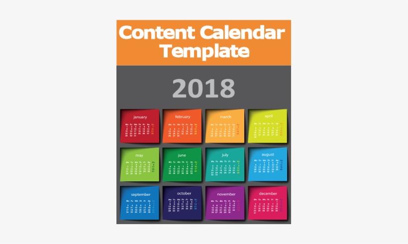 2018 Content Editorial Calendar Template Social Media - Social Media Marketing Calendar 2018 Template, transparent png #2886038