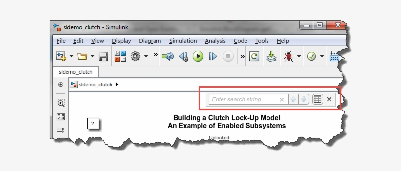 type something in the search box and hit enter, all - simulink search