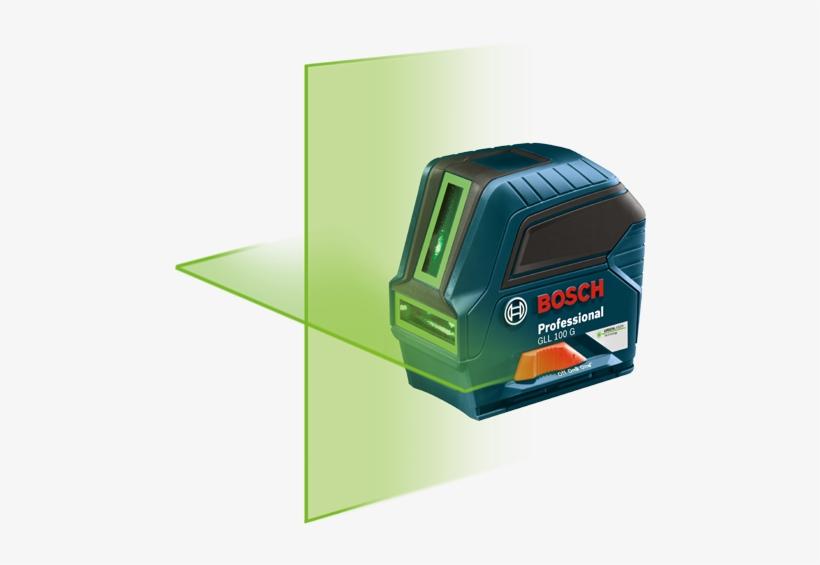 Bosch - Green-beam Self-leveling Cross-line Laser, transparent png #2890400