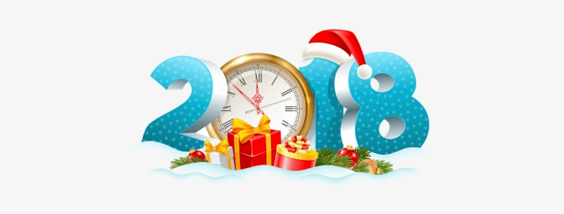 It's Another Year - New Year Clock 2018, transparent png #2891439
