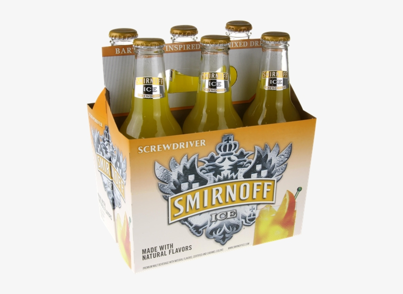 Smirnoff Ice Screwdriver 6 Pack - 6 Pack Of Alcohol, transparent png #2893868