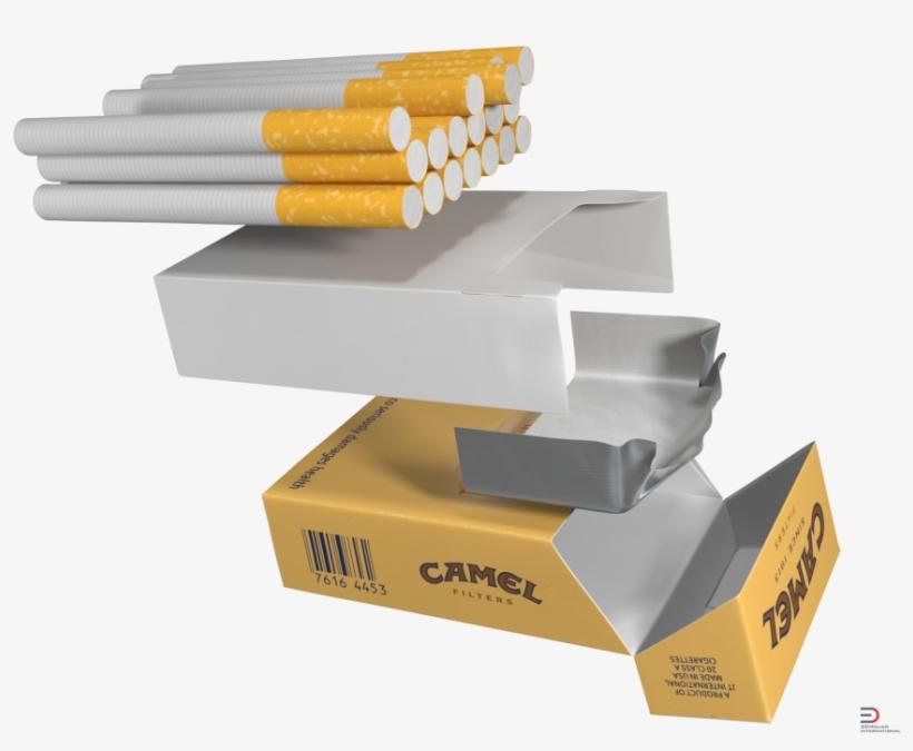 2 Opened Cigarettes Pack Camel Royalty-free 3d Model - Cigarette Pack, transparent png #2894488