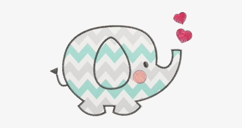 Elefante Aplique Desenho Elefantinho Para Bordar Free