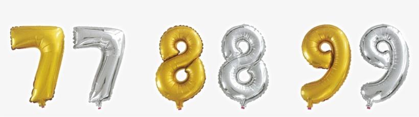 Metallic Silver Or Gold Numeric - Balão De Alumínio Número 8, 35 Cm, transparent png #2895480