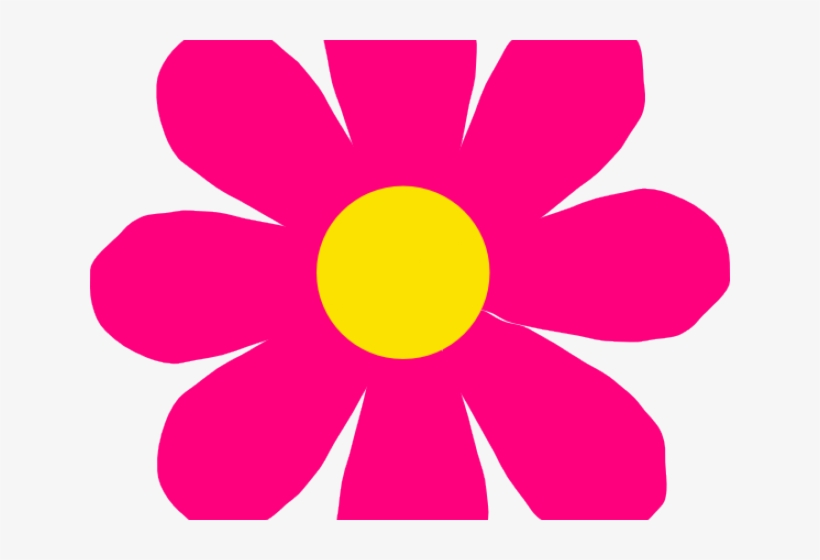 Petal Clipart Bright Flower - Flower In Spring Cartoon, transparent png #2895644