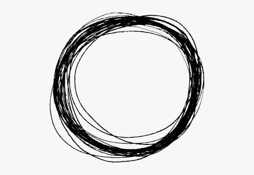 Scribble Circle - Scribble Circle Transparent Background, transparent png #2896635