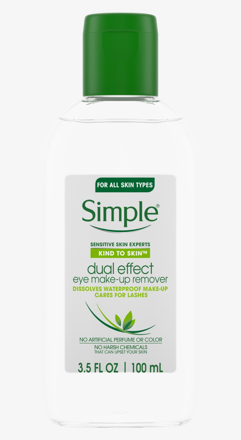 Simple Kind To Skin Dual Effect Eye Make Up Remover - Simple Cleansing Water, Micellar - 13.5 Fl Oz, transparent png #2898260