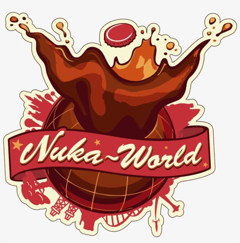Fo4nw Nuka-world Sign - Mug: Fallout - Bottle & Cappy Mug, 10x11cm., transparent png #2899270