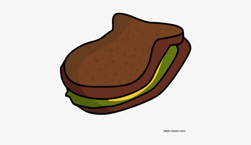 Free Brown Bread And Lettuce Sandwich Free Clip Art - Lettuce Sandwich, transparent png #290584