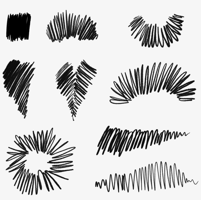 Free Download ~ Commercial Use Scribble Elements In