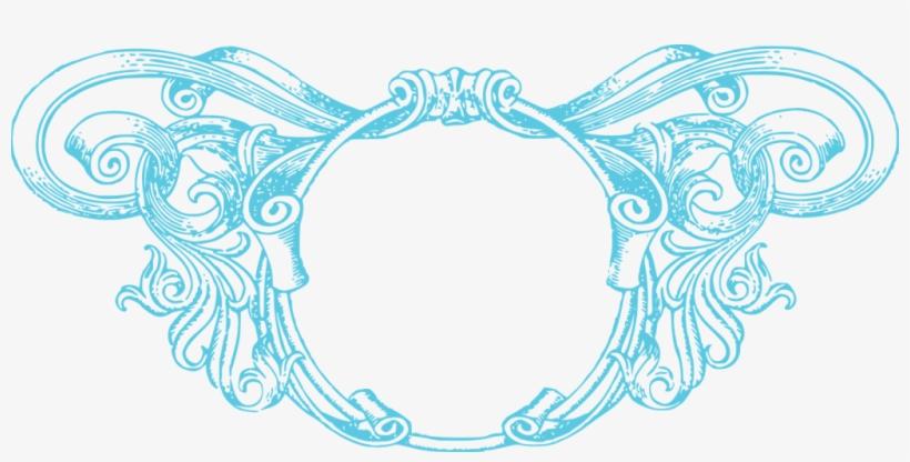 Aqua Border Frame Png Photo - Blue Vintage Border Png, transparent png #291145