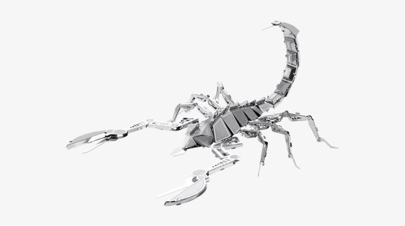 Metal Earth Bugs - Fascinations Metal Earth 3d Laser Cut Model - Scorpion, transparent png #291353