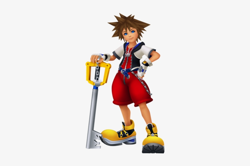 With The Keyblade For Melee Attacks And Different Types - Sora Kingdom Hearts Re Coded, transparent png #291827