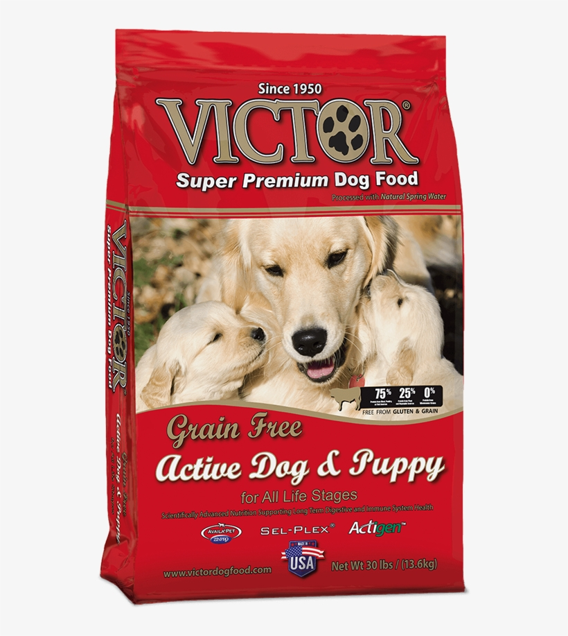 Grain Free Active Dog & Puppy - Victor Dog Food Active Dog And Puppy, transparent png #293659