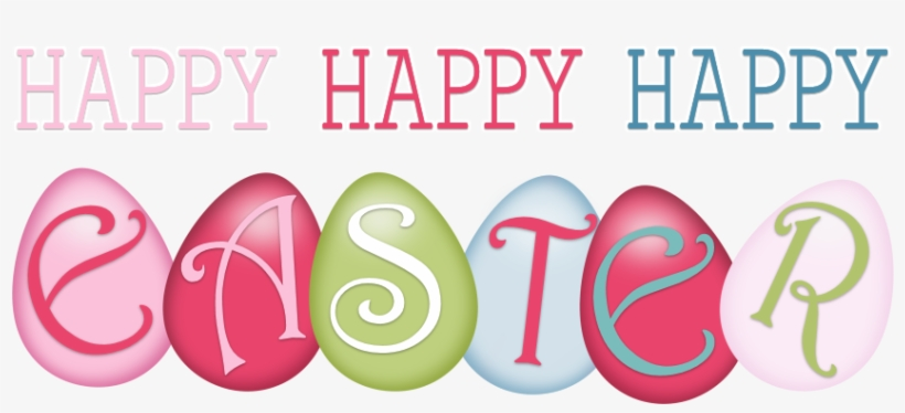 Word Clipart Happy Easter - Happy Easter Words Png, transparent png #293739