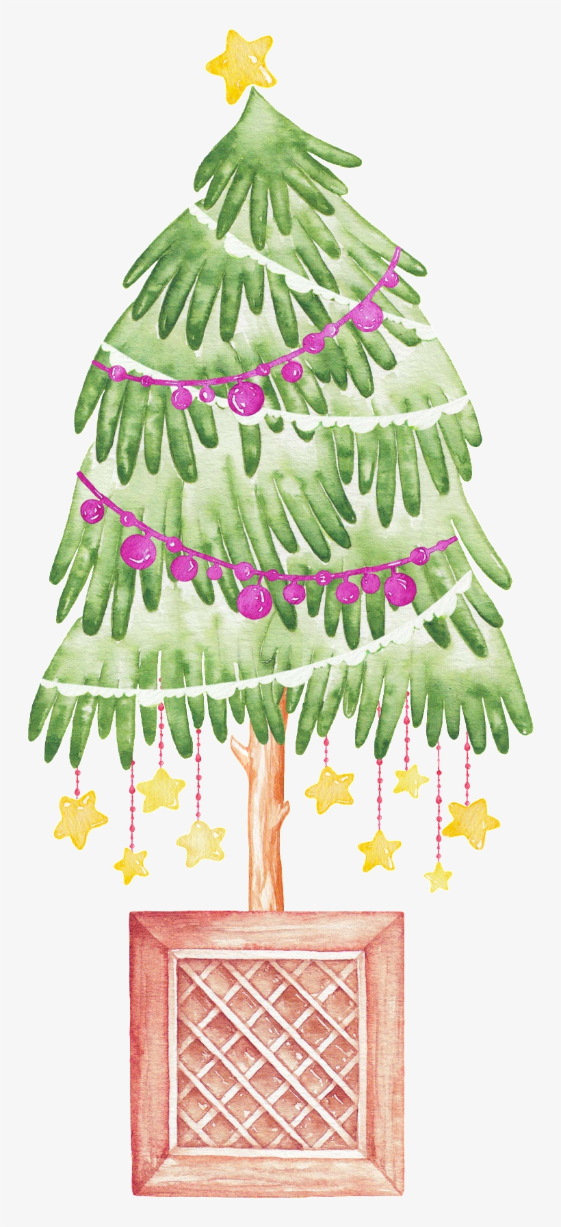 Hand Painted Creative Christmas Tree Png Transparent - Christmas Tree, transparent png #293805