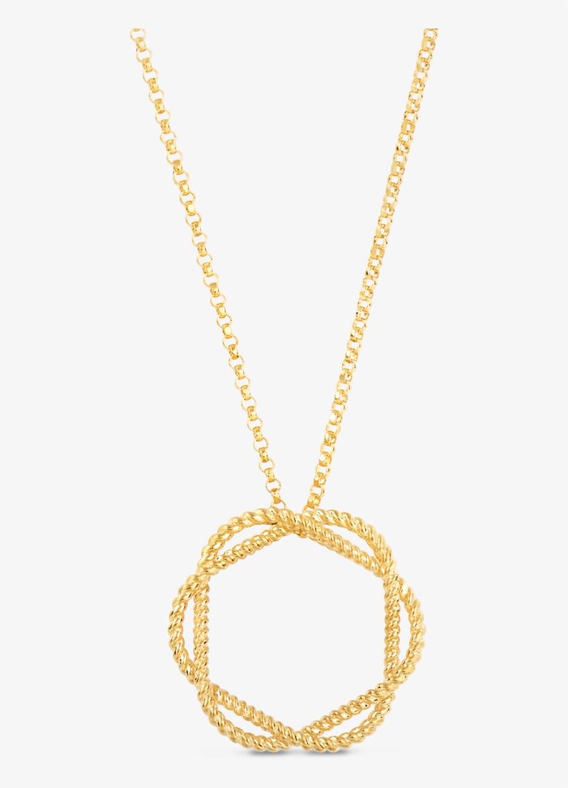 Roberto Coin Barocco 18k Yellow Gold Circle Pendant - Baroque, transparent png #294296