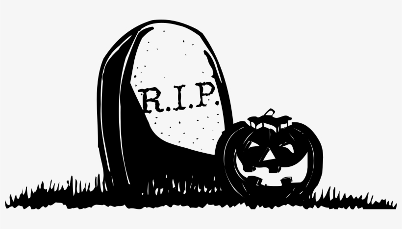 Gravestone With Pumpkin Clip Art At Clipart Library - Pumpkin Halloween Png, transparent png #295402