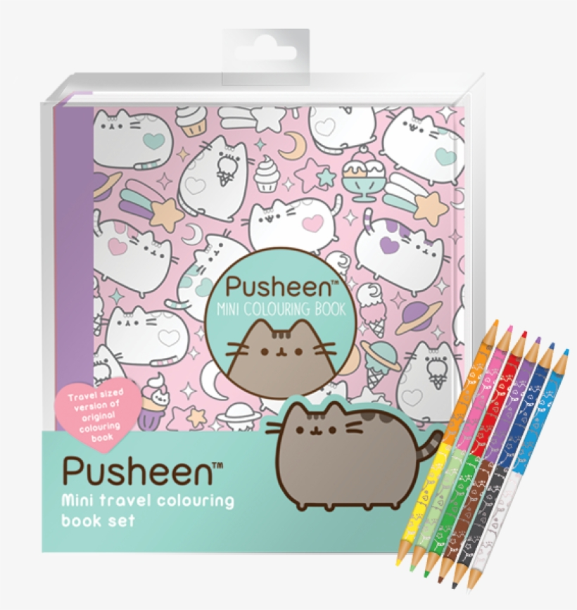Mini Pusheen Coloring Book - Free Transparent PNG Download - PNGkey