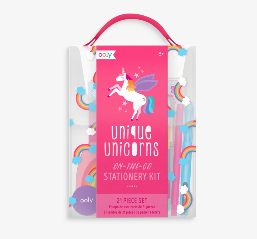 On The Go Stationery Kit - Ooly, Gift Set Unique Unicorns Stationery Kit, transparent png #295492