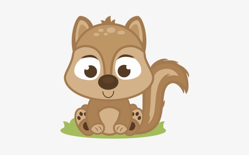 Baby Squirrel Clipart - Cute Baby Squirrel Clipart, transparent png #295725