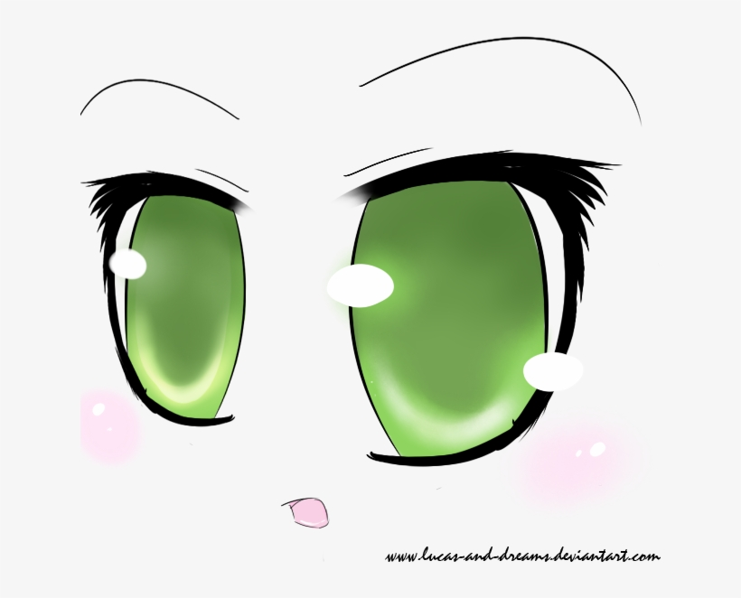 Olive Green Eyes Anime - Anime Green Eyes Png, transparent png #295766