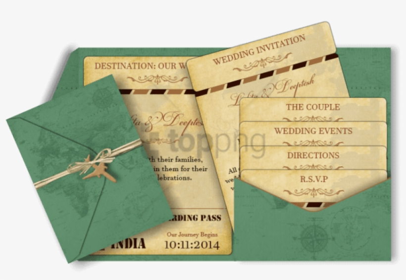 Pocket Style Email Indian Wedding Invitation Card Design - Wedding Invitation, transparent png #297739