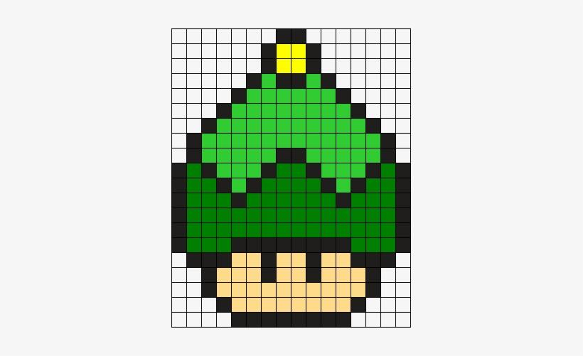 Elf Hat Mushroom Perler Bead Pattern Bead Sprite Mario