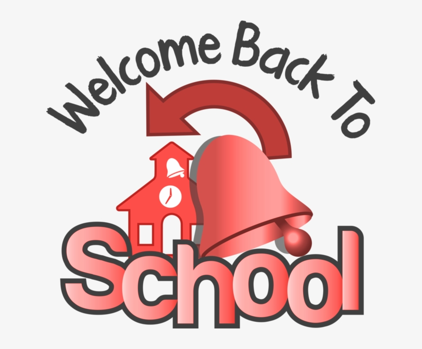 Welcome Back To School Image Of School With Bell And - Bng Welcome To Back School, transparent png #298386