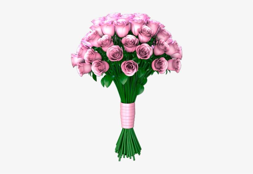 Ramo De Rosas - Stickers Effet 3d - Bouquet Des Fleurs, transparent png #2900982