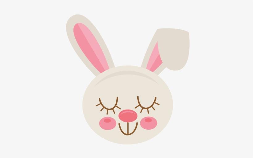 Easter Bunny Svg Scrapbook Cut File Cute Clipart Files - Girl Easter Bunny Face Clipart, transparent png #2902593