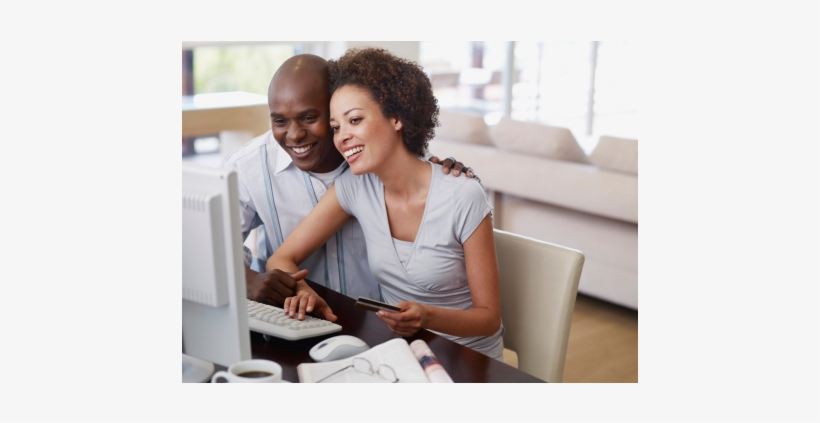 Image Removed By Sender - Black Couple Shopping Online, transparent png #2902646