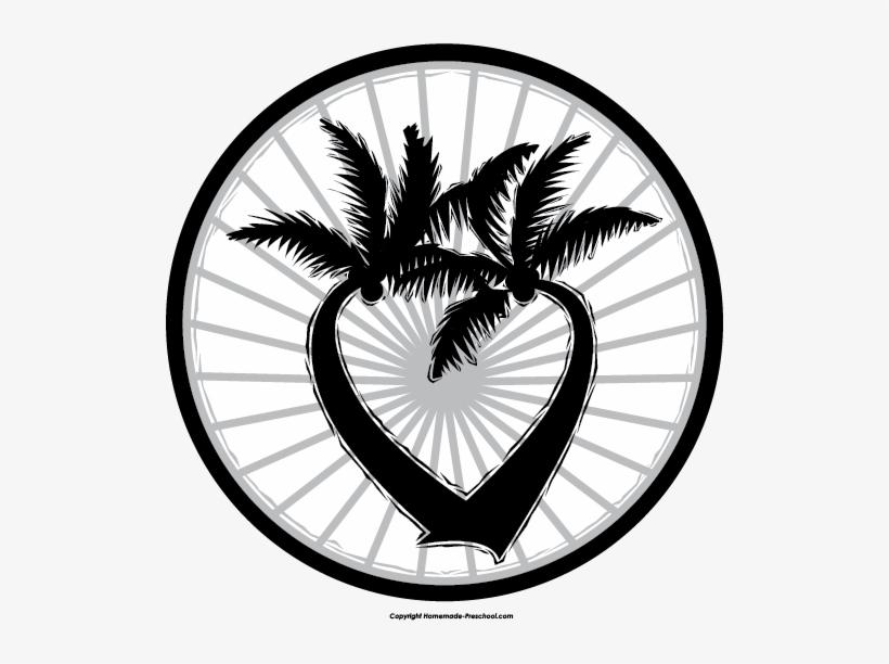 Palm Tree Clipart Circle Logo - Clip Art, transparent png #2903696